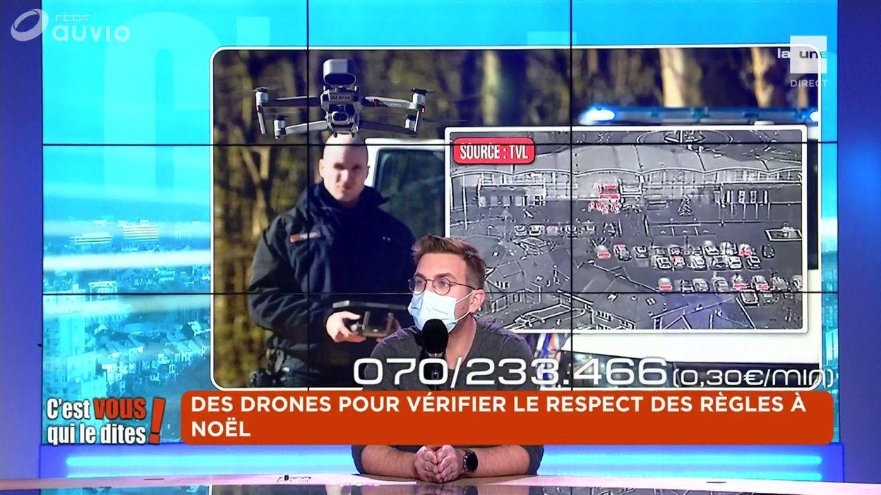 Des drones pour vérifier le respect des règles à Noël