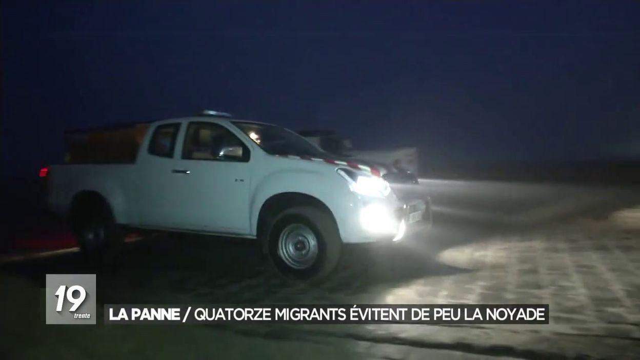 La Panne : une quinzaine de migrants évitent de peu la noyade