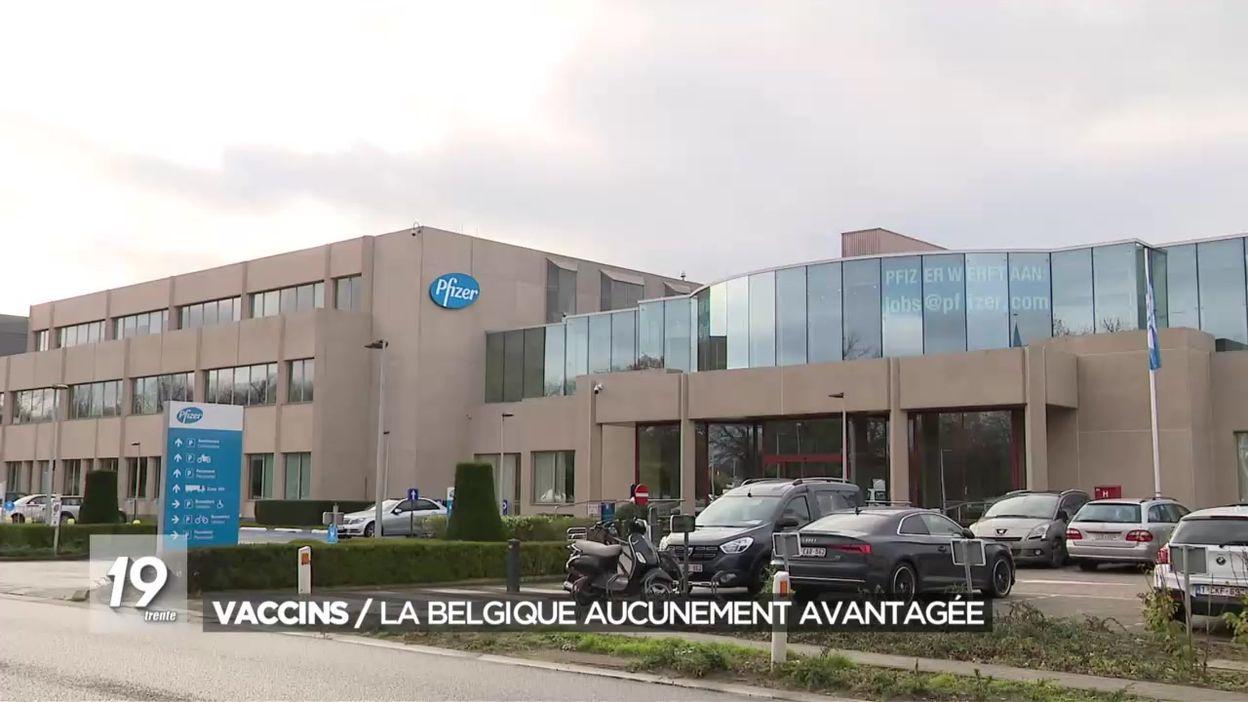 Vaccins : la Belgique aucunement avantagée