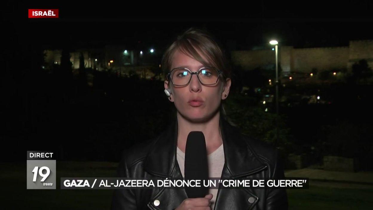 Gaza :  Al-Jazeera dénonce un crime de guerre