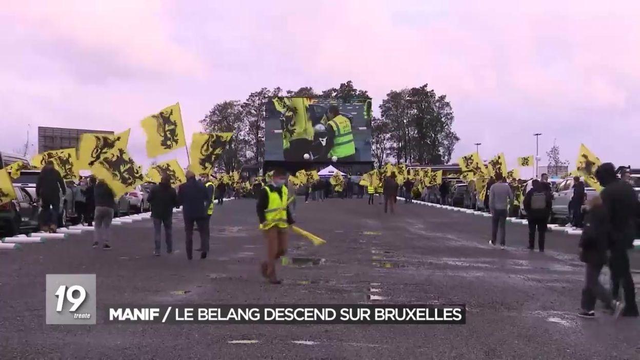 Manifestation du Vlaams Belang à Bruxelles