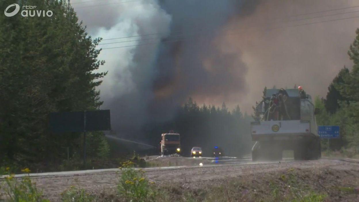 Chaleur dans le nord de l'Europe: feux de forêt en Suède (centre du pays)