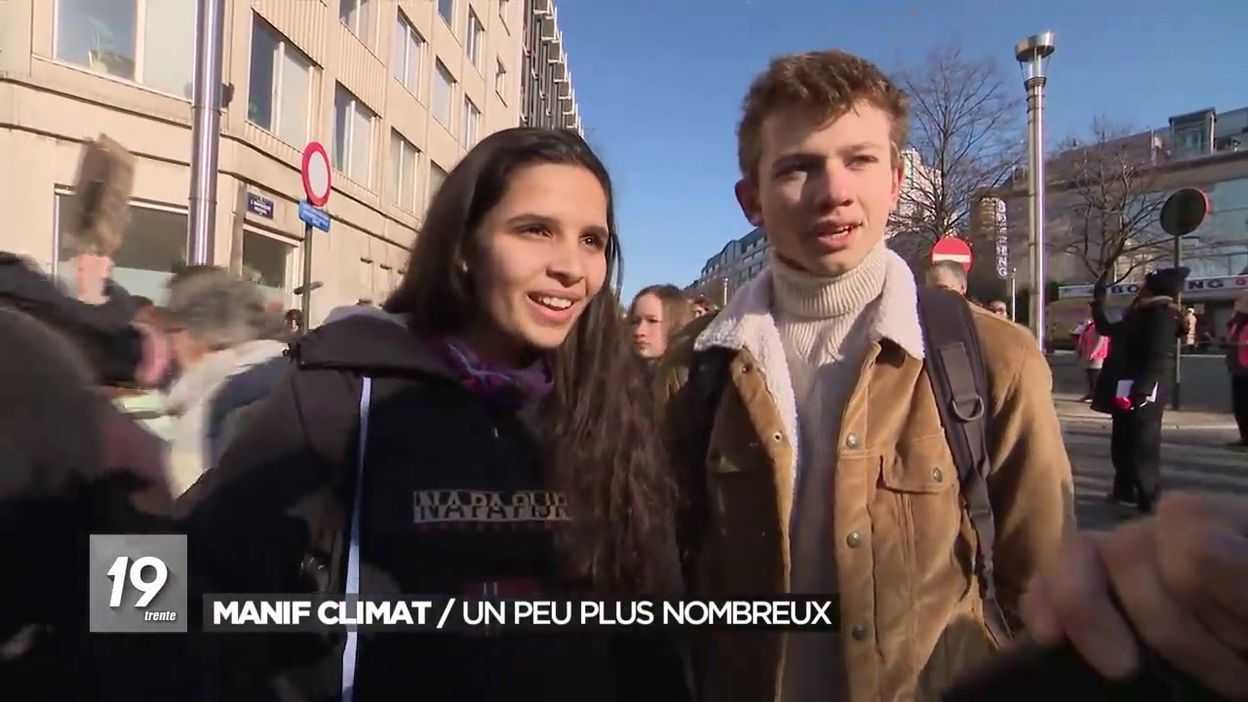 Action pour le climat: plus de 1000 personnes mobilisées à Bruxelles dont beaucoup de parents et grands-parents