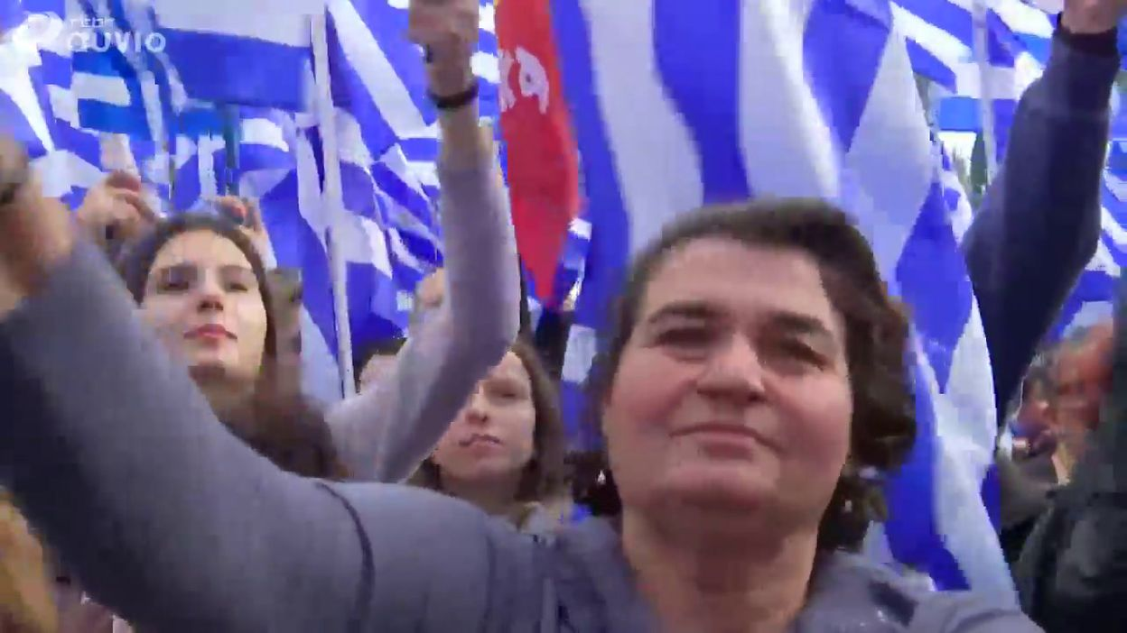 Grèce: des milliers de personnes manifestent contre le nouveau nom de Macédoine du Nord, à Athènes