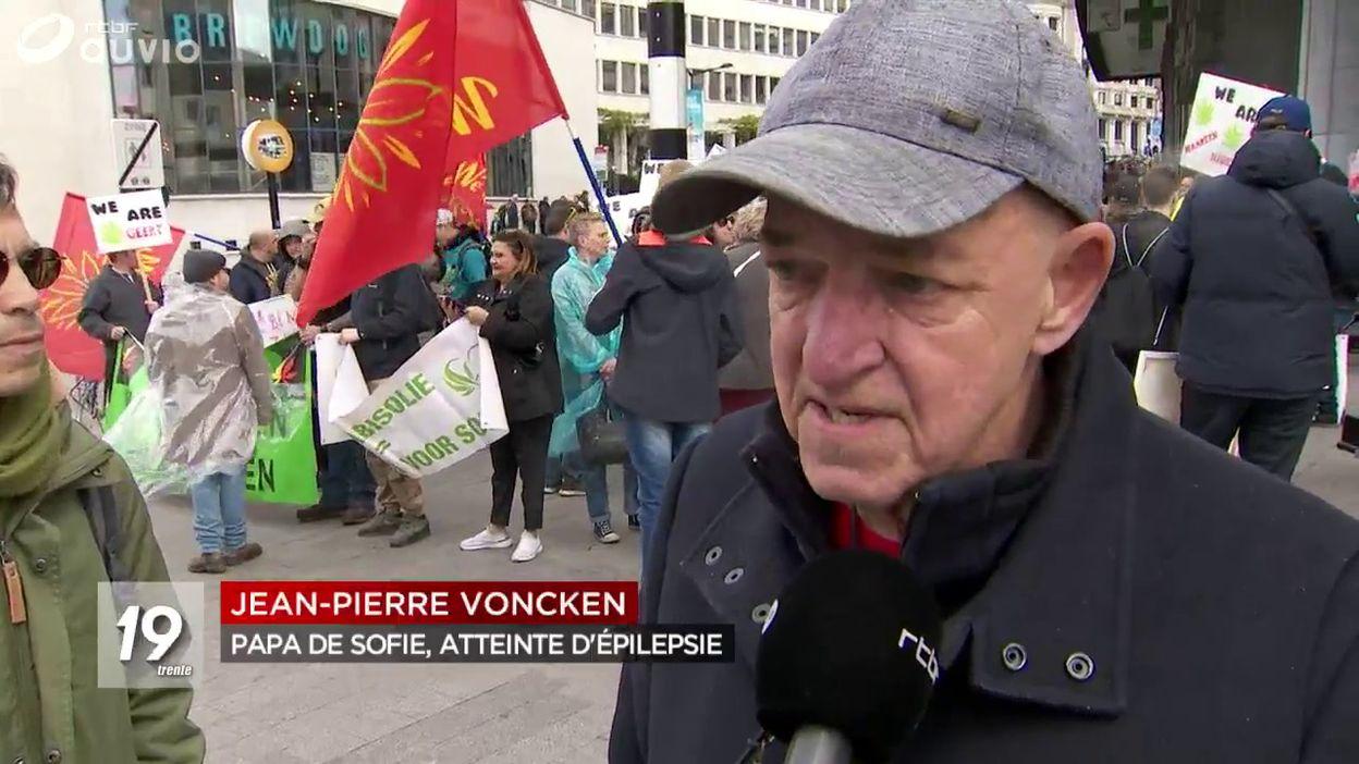 Manifestation à Bruxelles pour la légalisation du cannabis thérapeutique