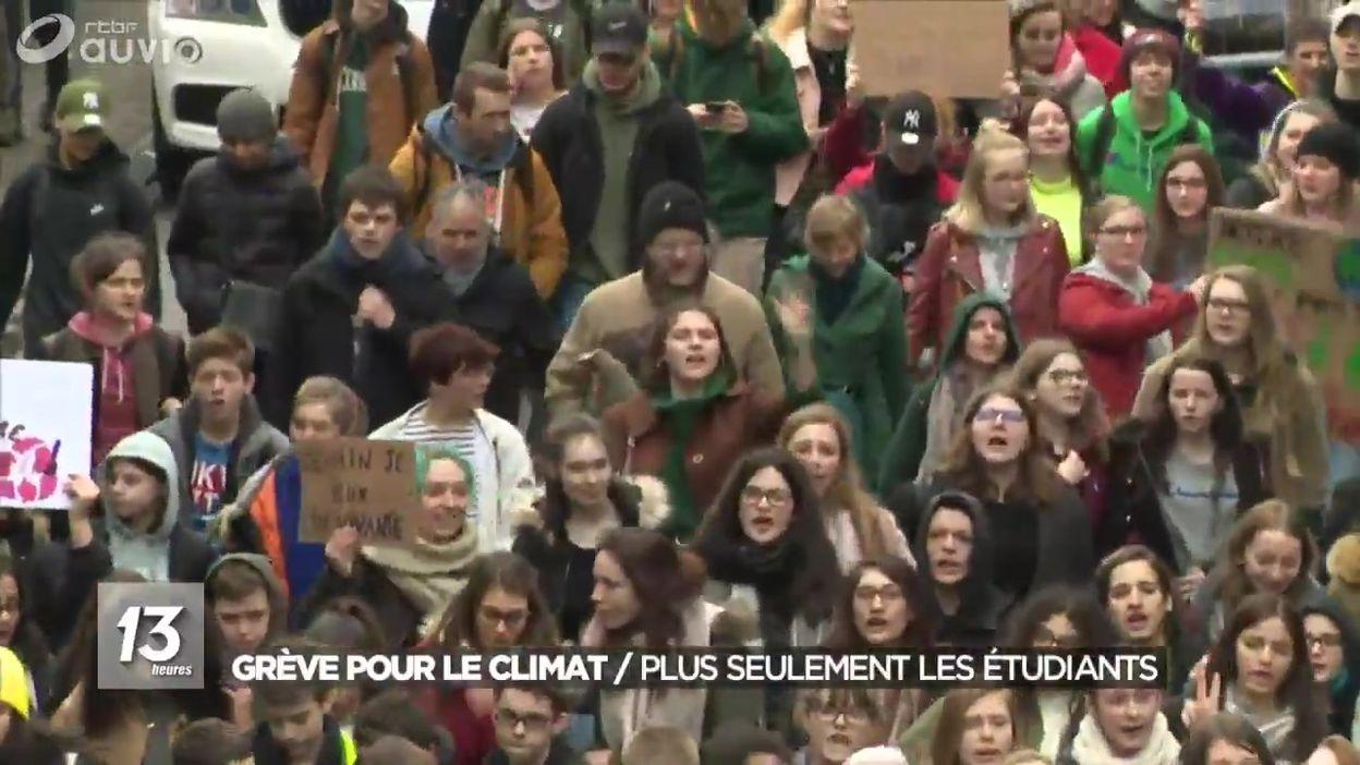 Grève pour le climat :  plus seulement les étudiants