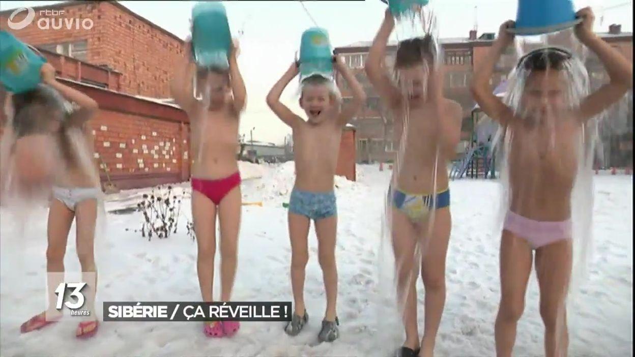 Sibérie : des seaux d'eau glacée, c'est bon pour la santé