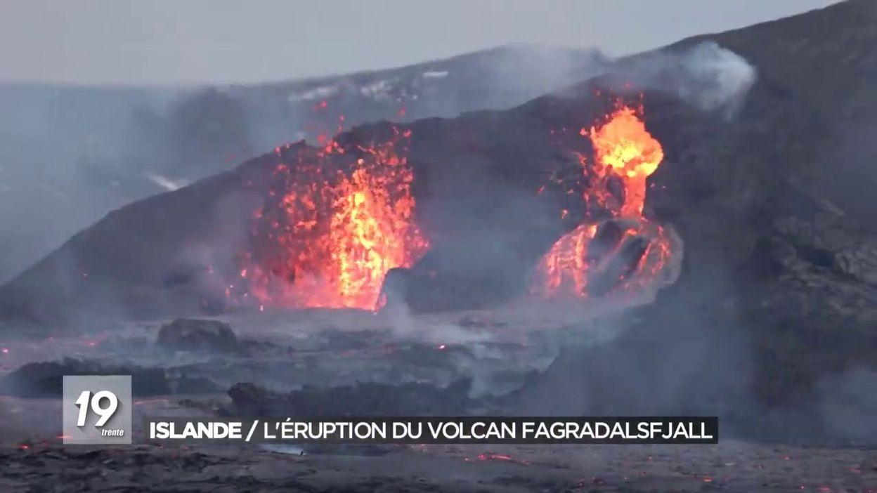 Islande / Léruption du volcan Fagradalsfjall
