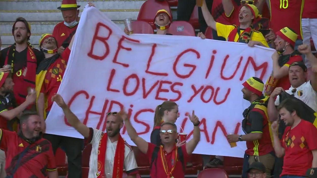Euro 2020 : Belges et Danois rendent un vibrant hommage à Christian Eriksen