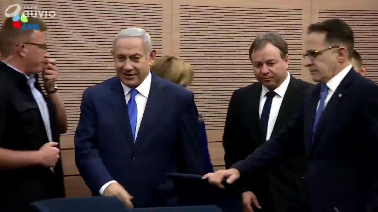 Benjamin Netanyahu était présent à un comité sur les affaires étrangères et la Défense ce 19/11 à Jerusalem