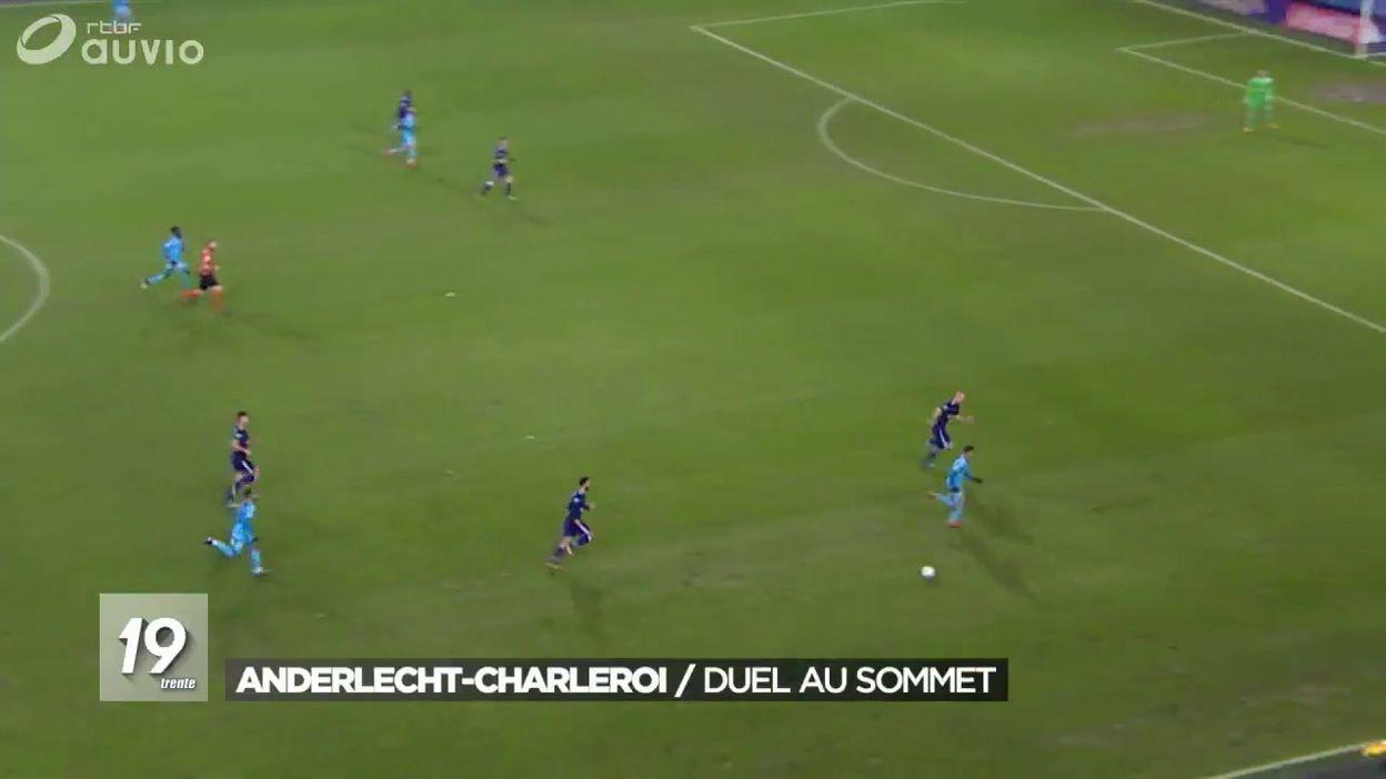 Football : résumé Anderlecht-Charleroi