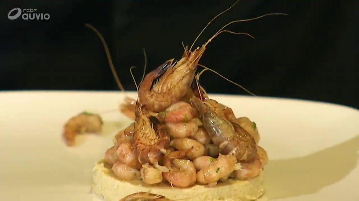 Bavarois de chicons aux crevettes