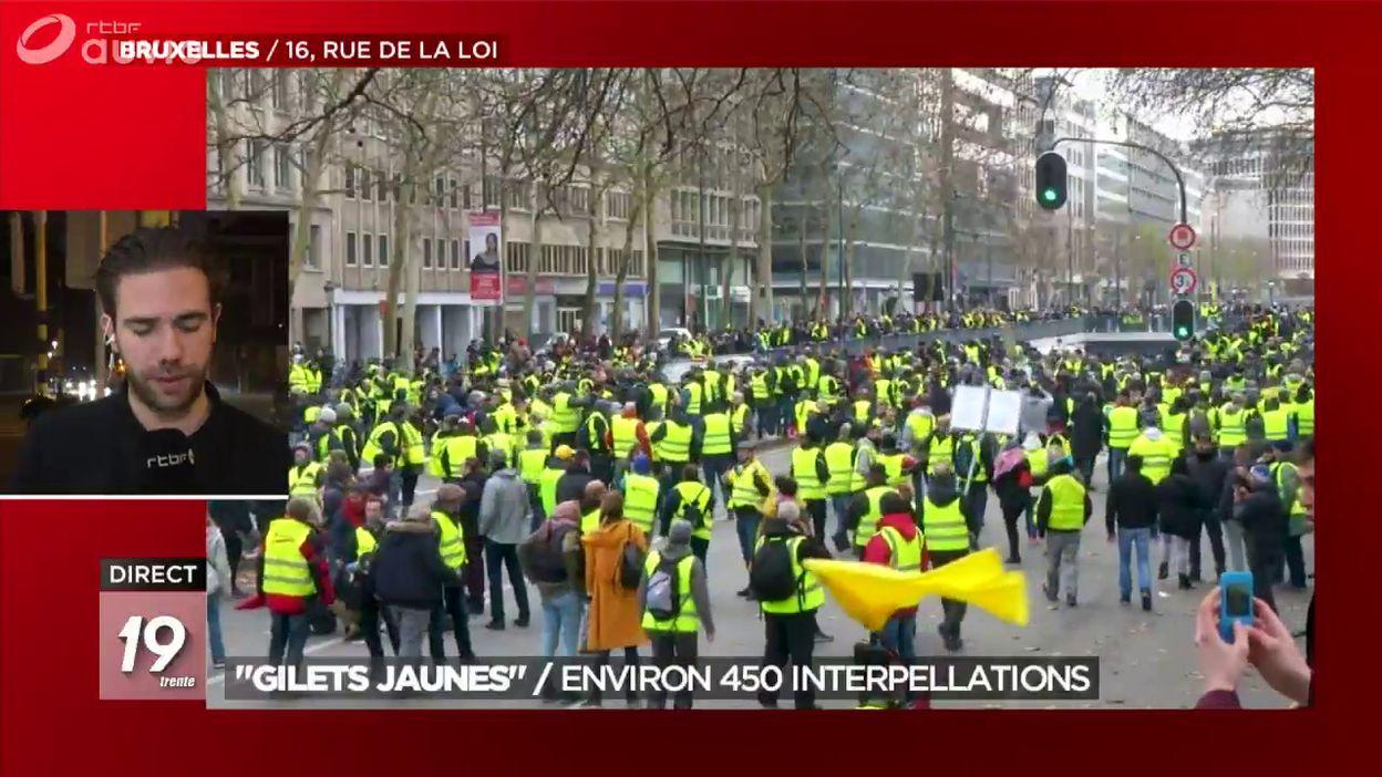 Le bilan de la manifestation des gilets jaunes à Bruxelles