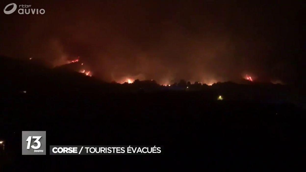 Incendies en haute Corse : évacuation d'un millier de personnes