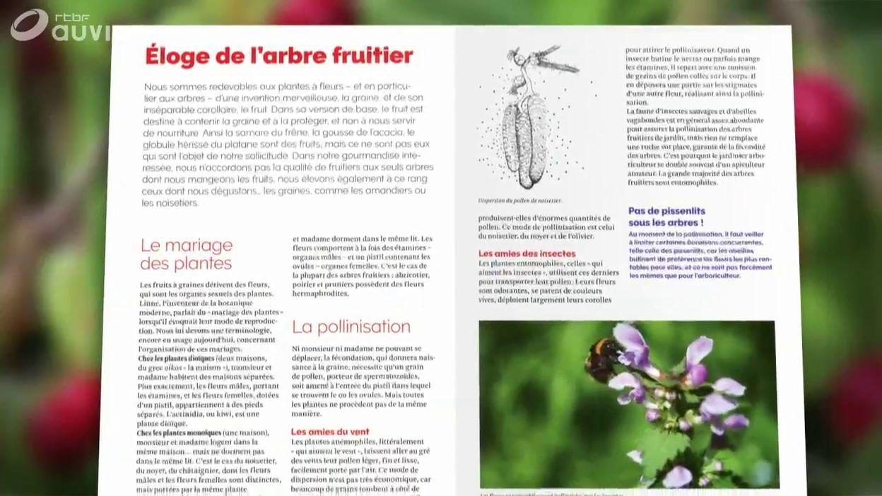 Le livre présenté par Luc : « Le verger bio » Arbres et arbustes Planter, soigner, tailler, multiplier, restaurer…