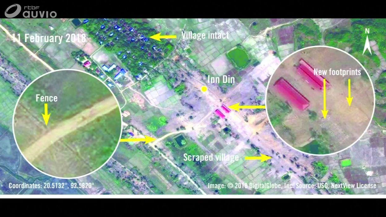 Birmanie: des bases militaires à l'emplacement des villages rohingyas