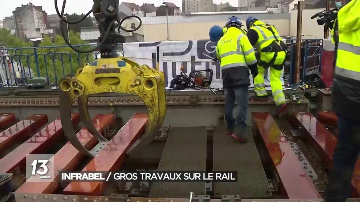Infrabel / Gros travaux sur le rail
