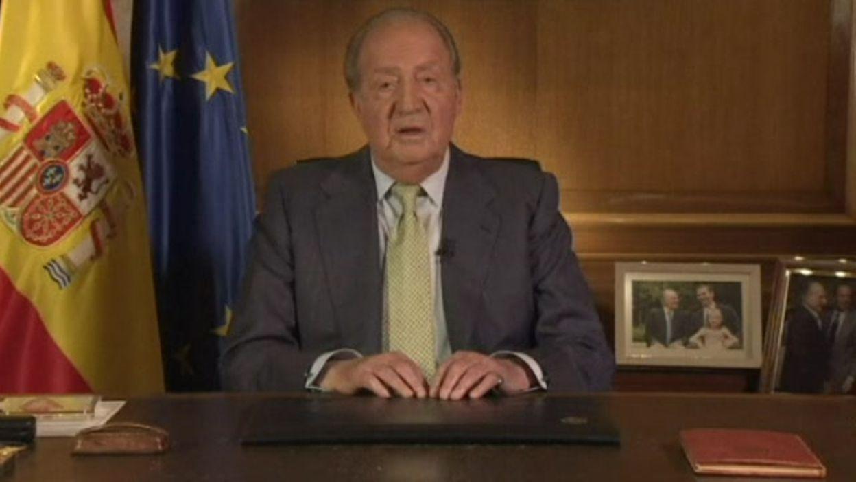 Le message télevisé du roi d'Espagne Juan Carlos