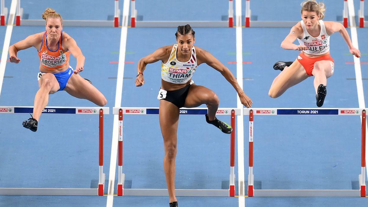 Nafissatou Thiam boucle son 60m haies en 8.3