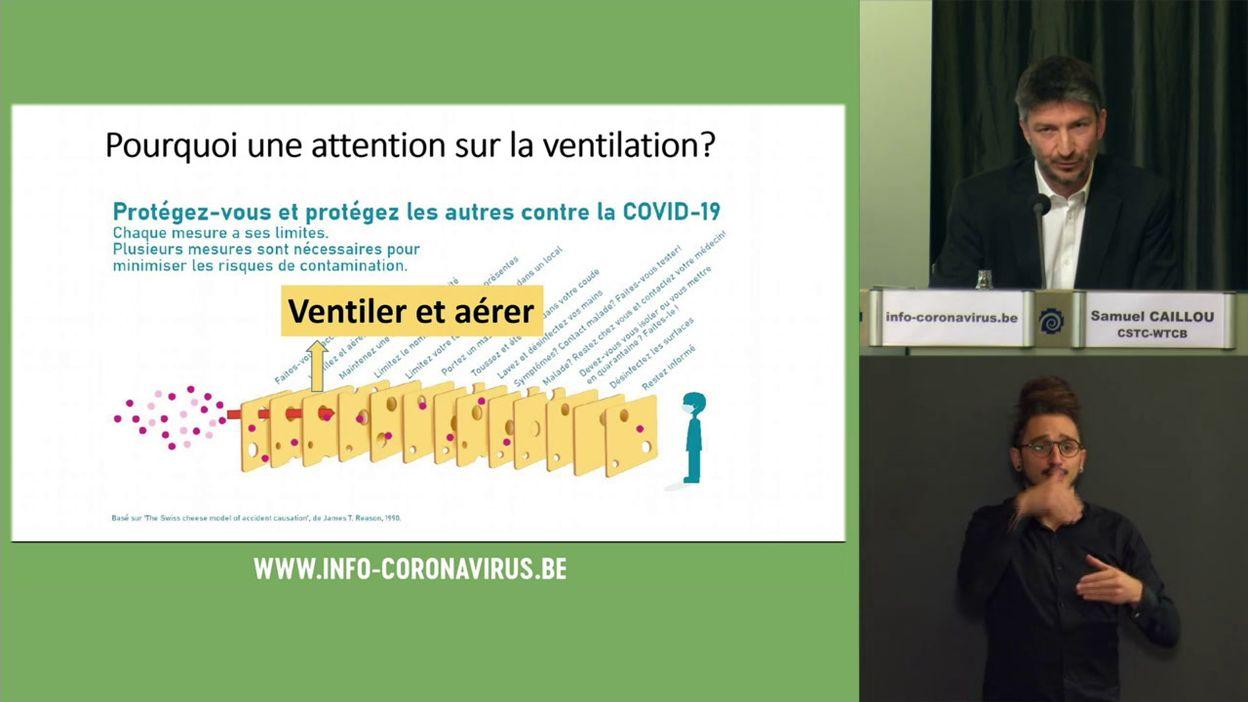 Coronavirus en Belgique : les recommandations de la task force ventilation
