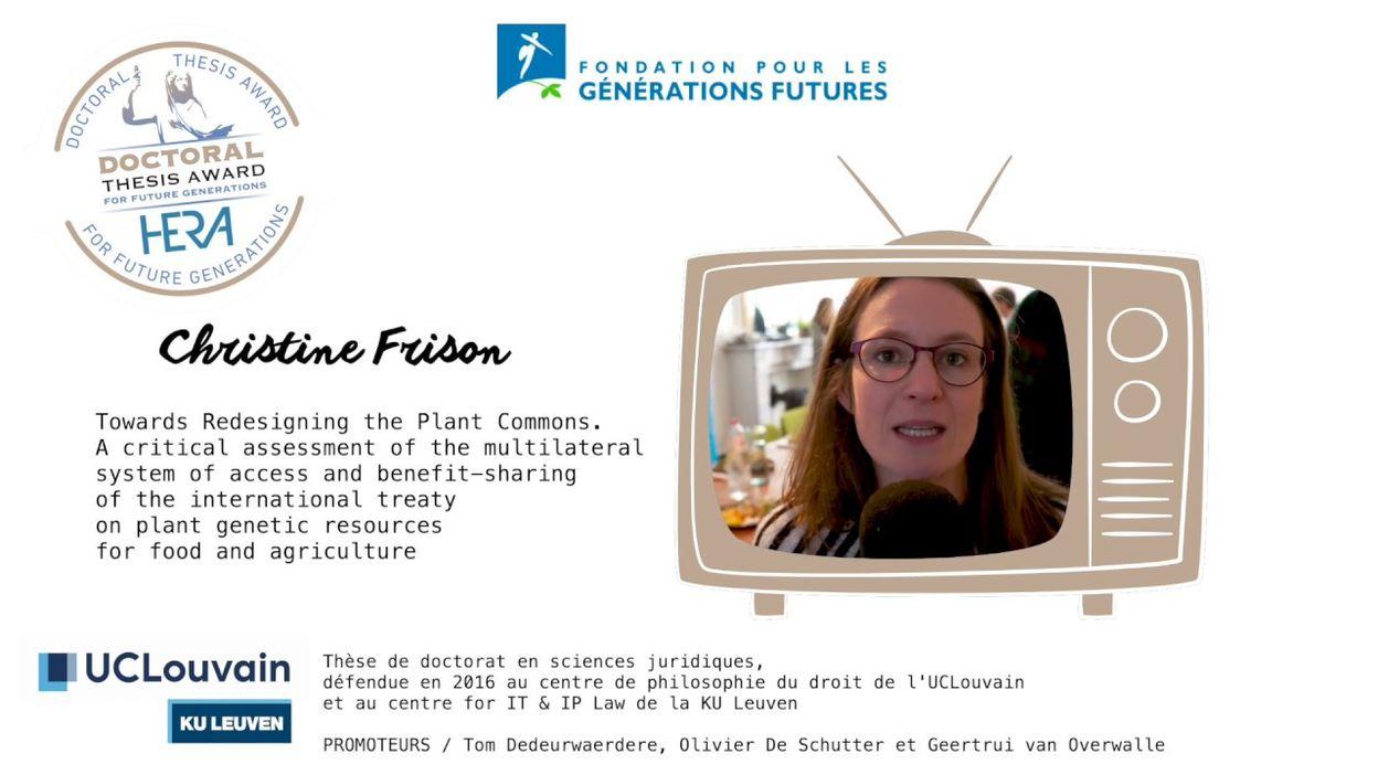 HERA Doctoral Thesis Award 2019 | Christine Frison, Nominée