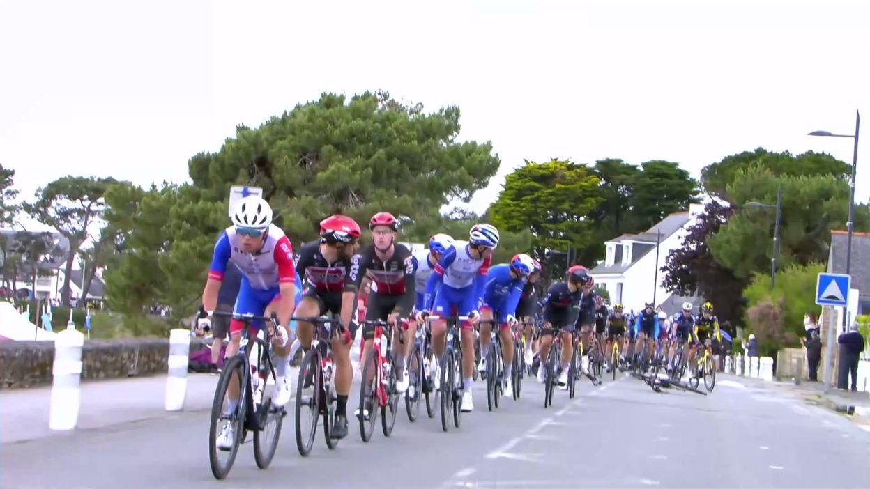 Tour de France : Geraint Thomas chute et repart