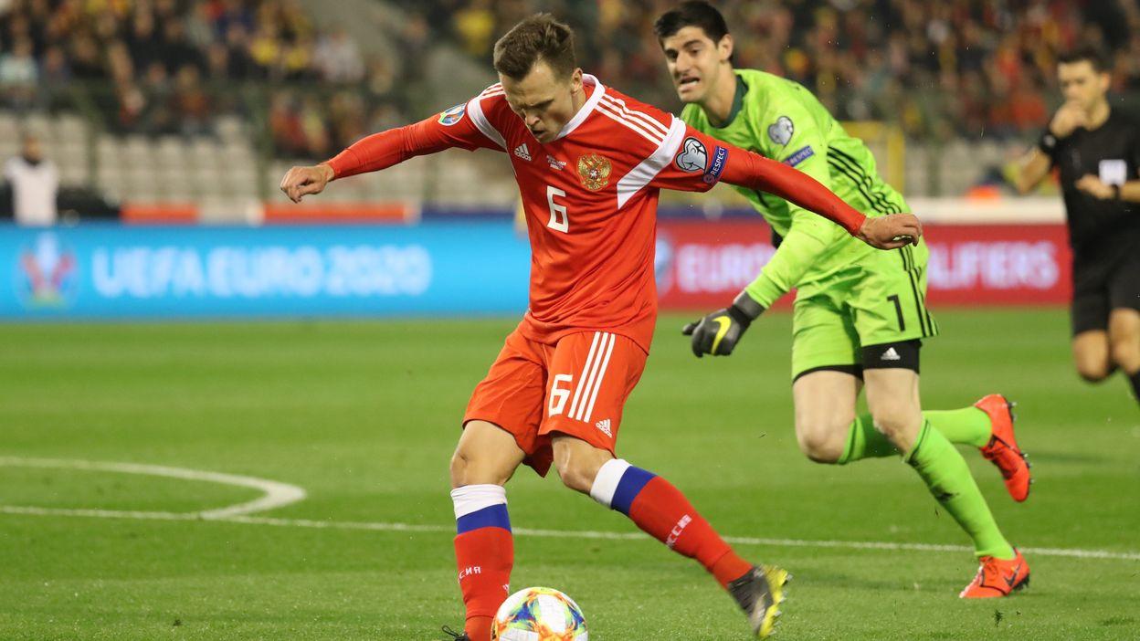 La boulette de Thibaut Courtois contre la Russie
