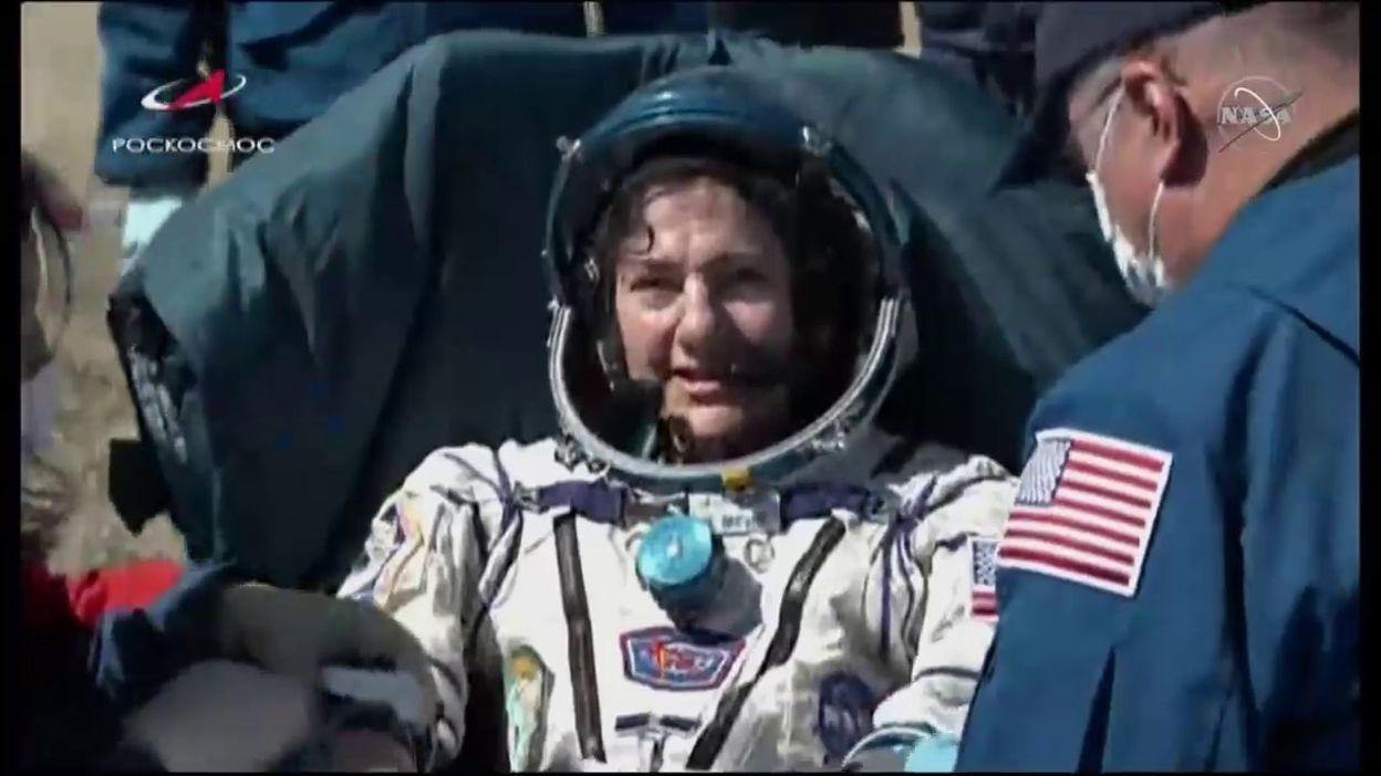 Arrivée des occupants ISS au Kazakhstan