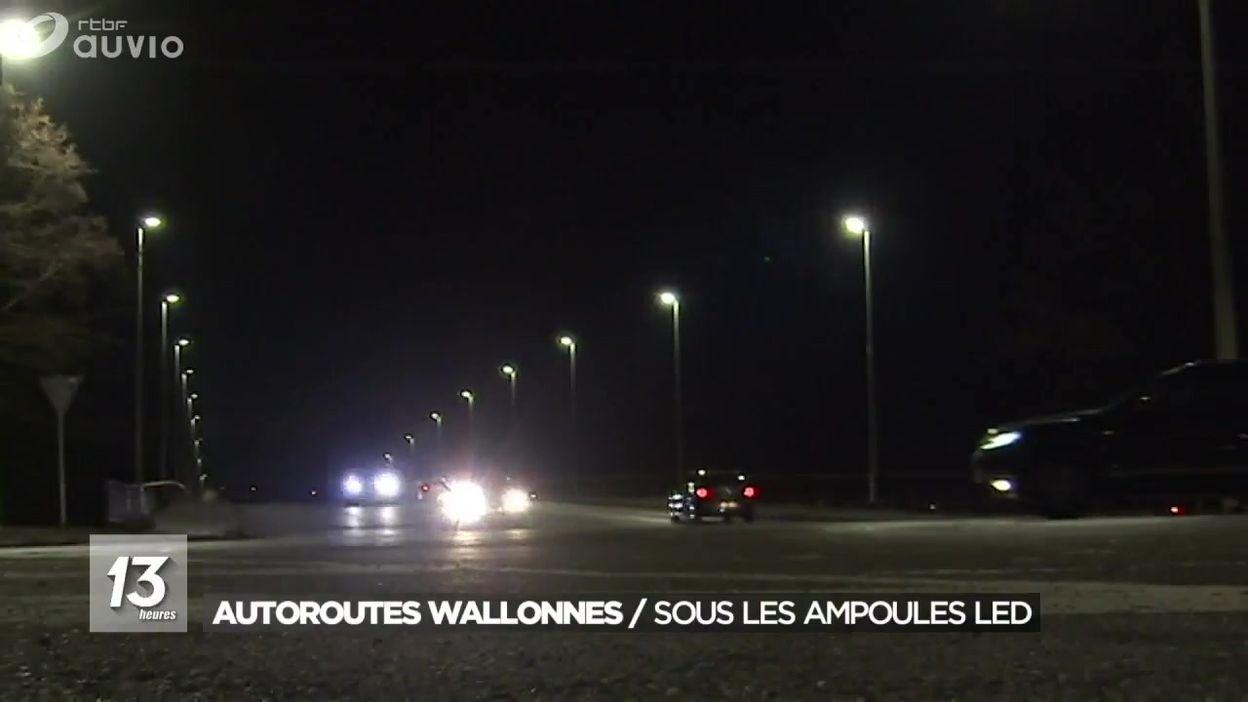 Autoroutes wallonnes : l'ensemble de l'éclairage routier va passer au LED