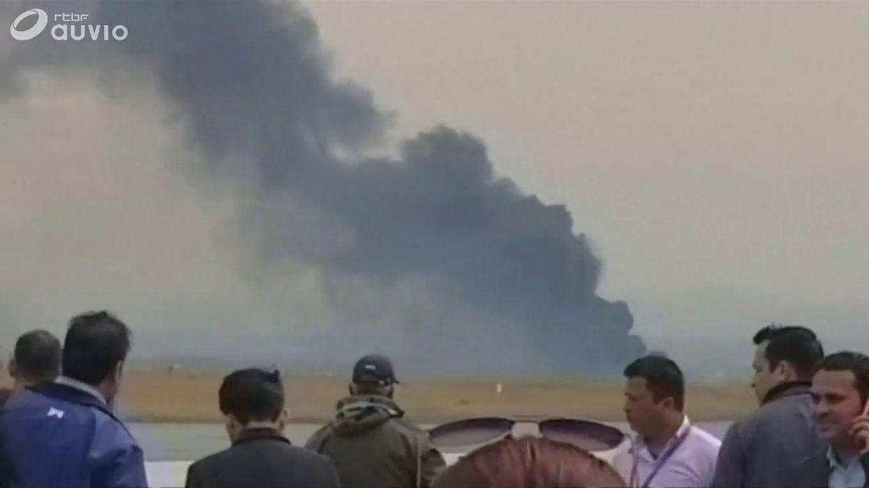 Népal: un avion s'écrase près de l'aéroport de Katmandou (images amateur)