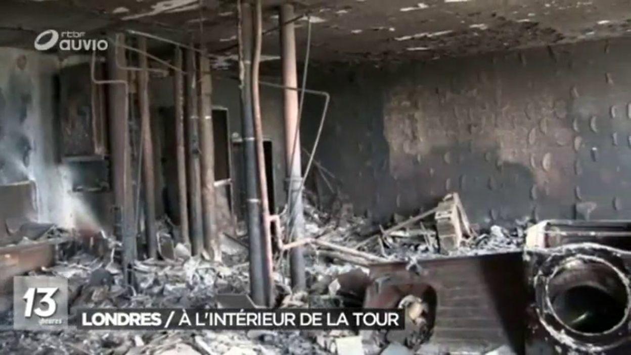 incendie londres premires images vues de lintrieur