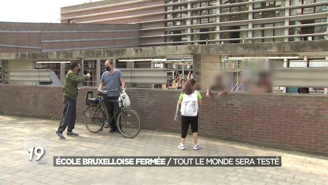 École bruxelloise fermée: tout le monde sera testé