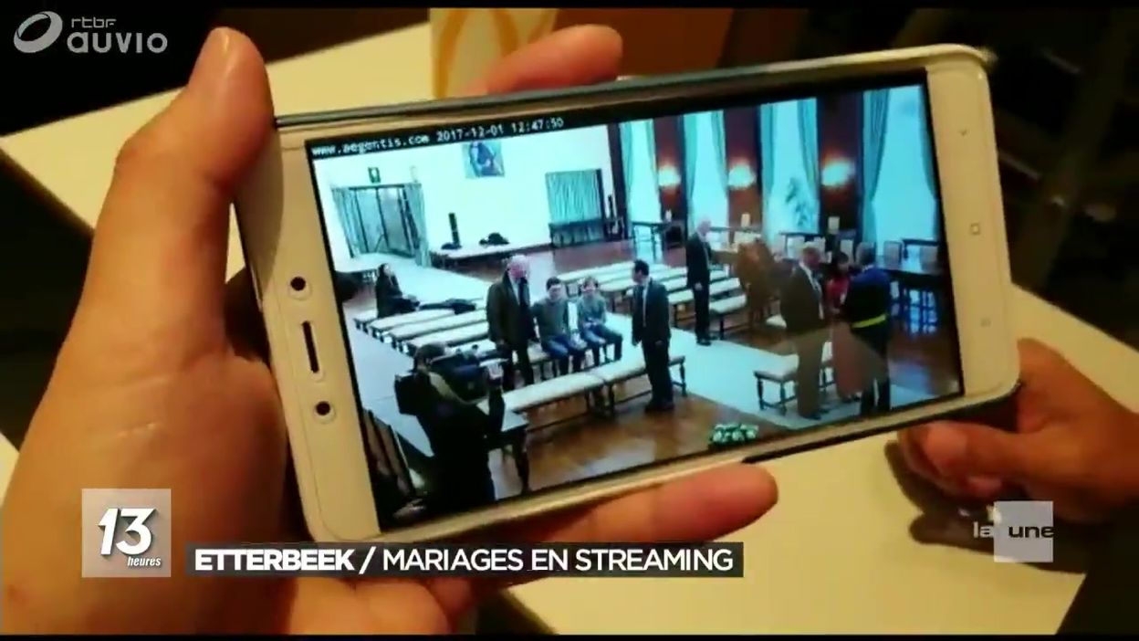 Mariage retransmis en streaming à Etterbeek