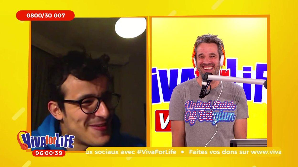 Un beau moment de complicité entre Paul El Karrat et Adrien Devyver dans Viva for Life
