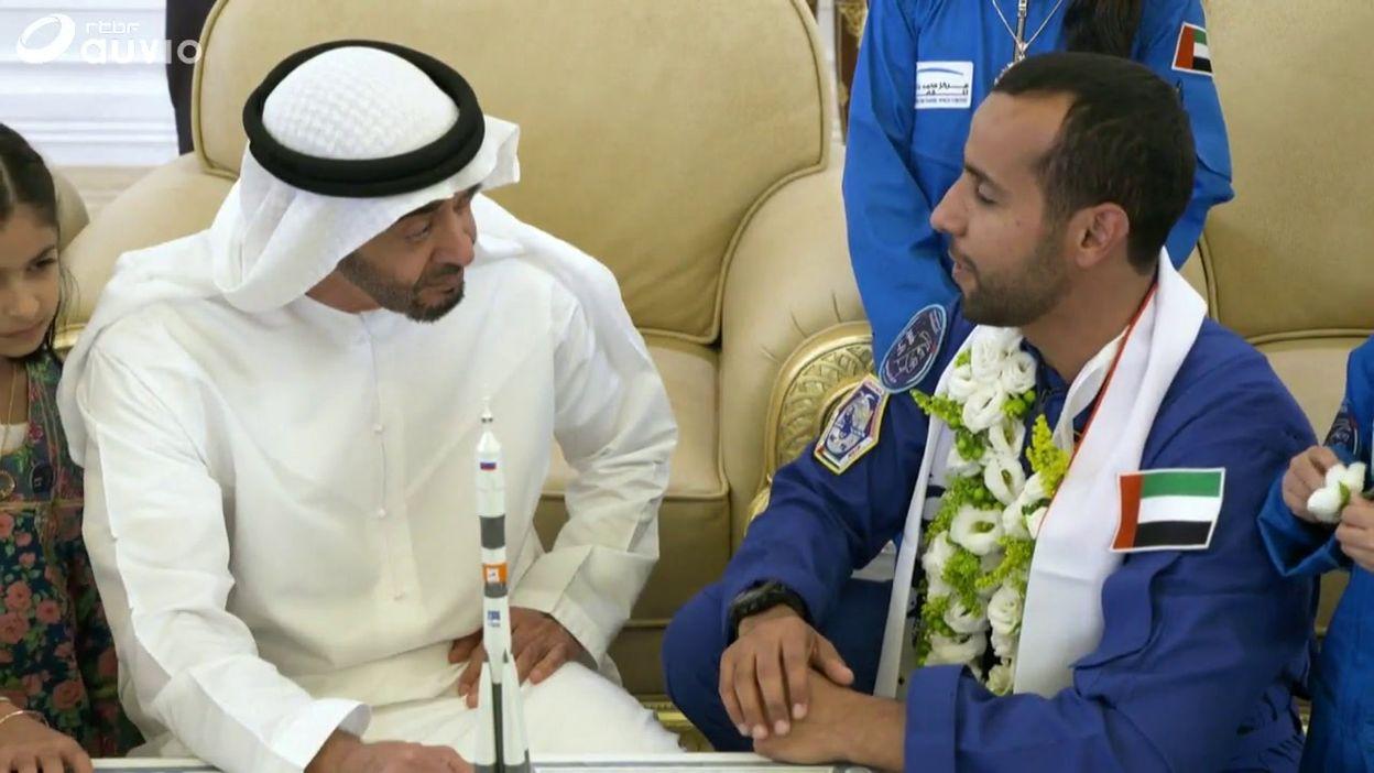 L'astronaute émerati al-Mansouri accueilli par le prince héritier d'Abou Dhabi, ce 12 octobre