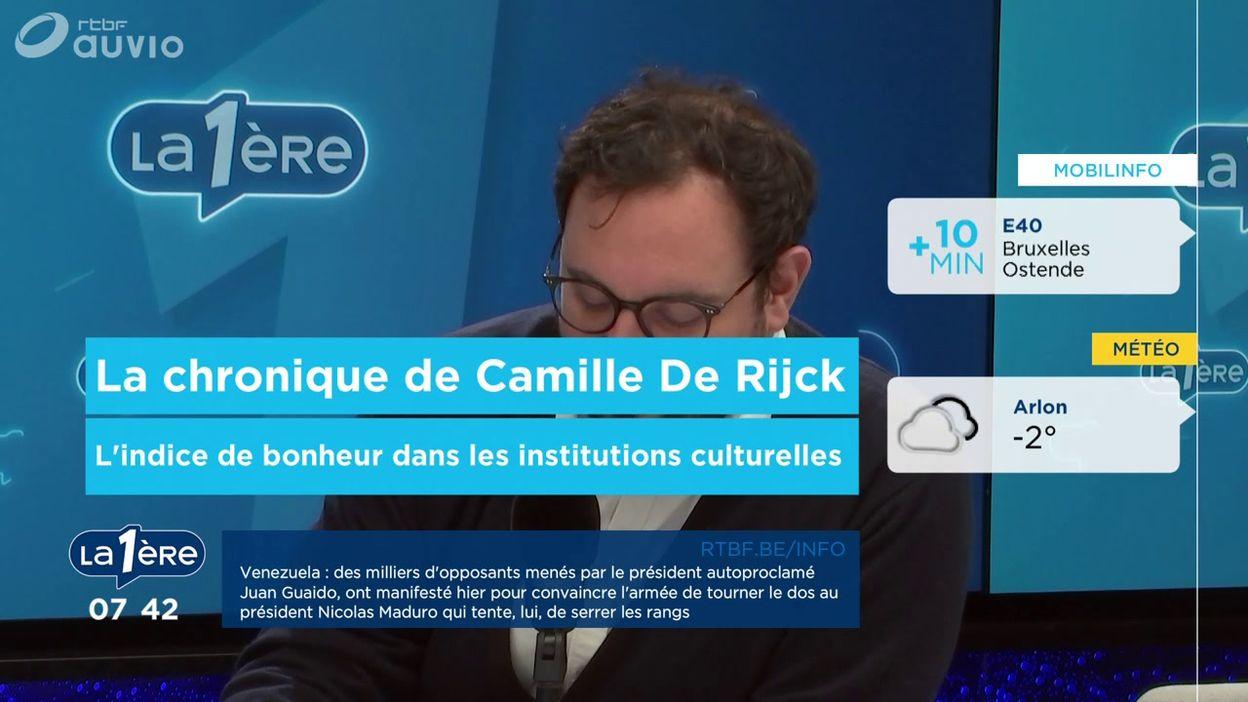 La chronique de Camille De Rijck