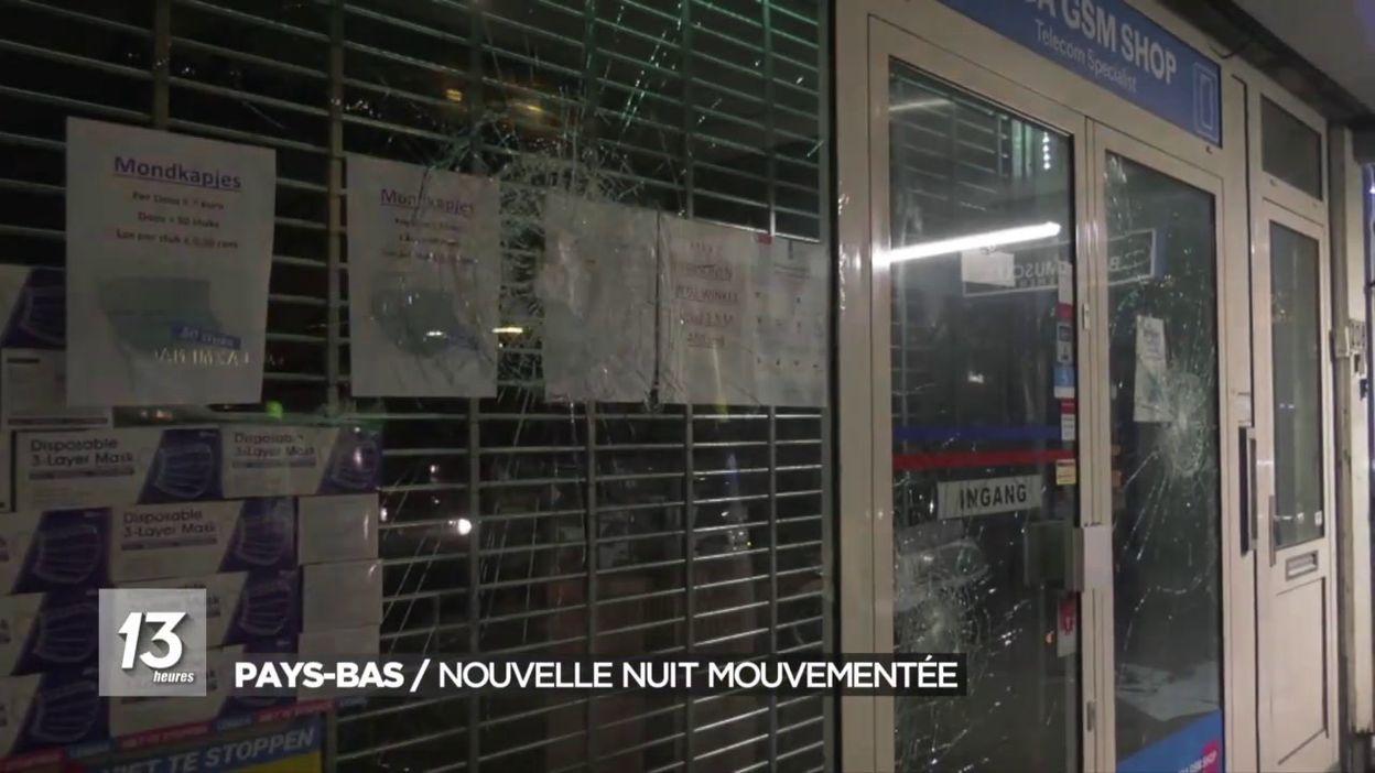 Nouvelles émeutes aux Pays-Bas: les images de la nuit