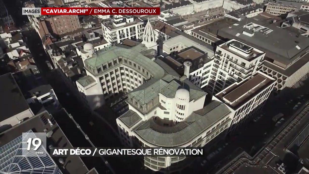 Société Générale De Rénovation Batiment Bruxelles art déco : une rénovation gigantesque pour la cger - jt 19h30 - 05/12/2019