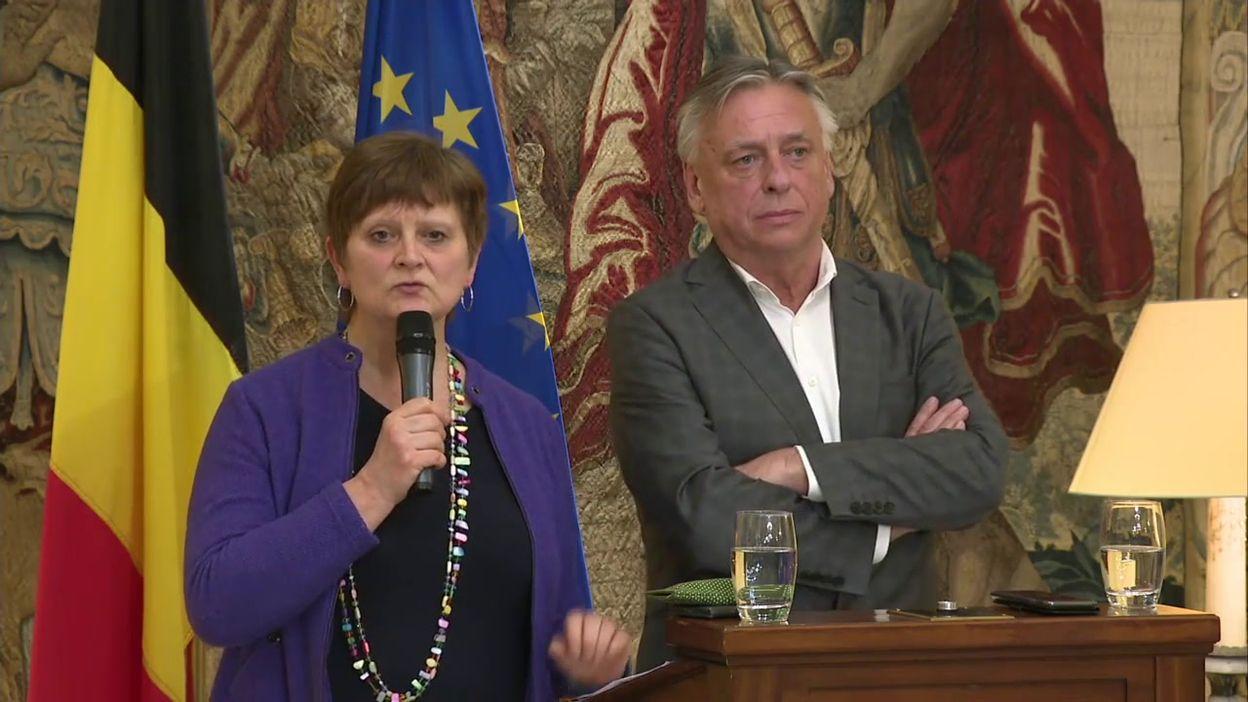 Conférence de presse de Sabine Laruelle et Patrick Dewael