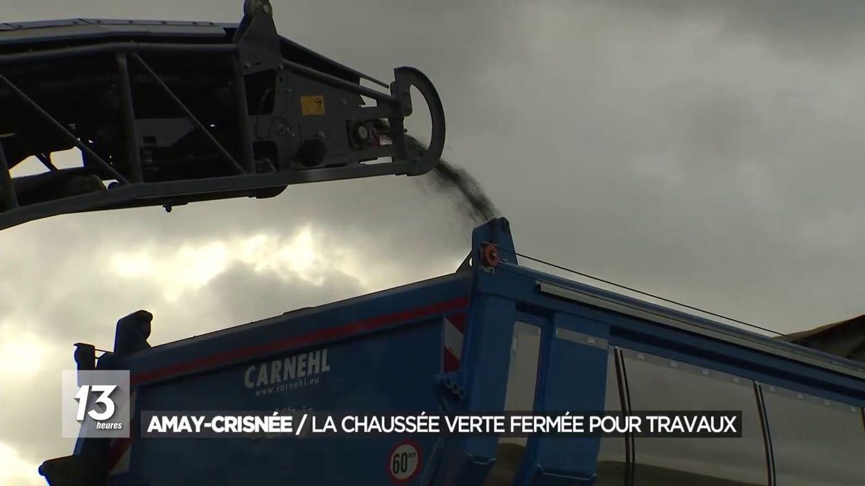 Amay-Crisnée : La chaussée verte fermée pour travaux