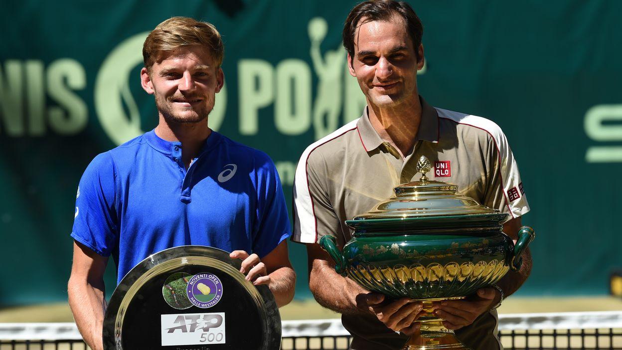Goffin lutte mais s'incline face à Federer en finale à Halle