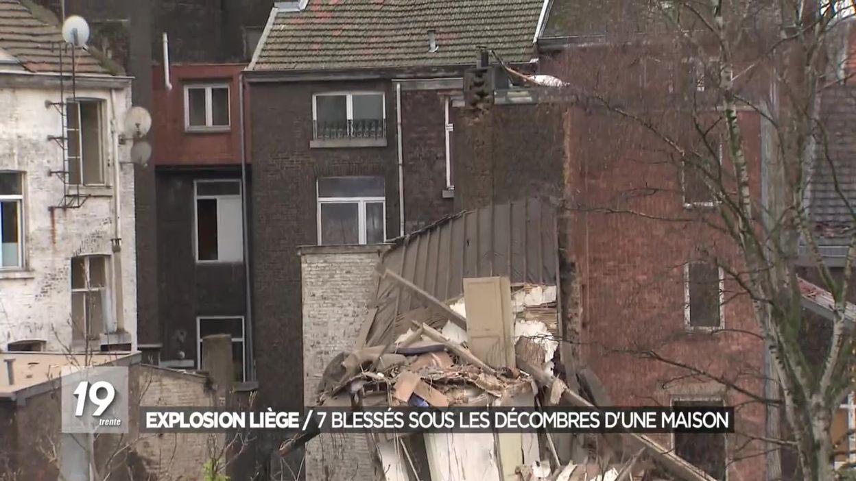 Explosion Liège : 7 blessés sous les décombres