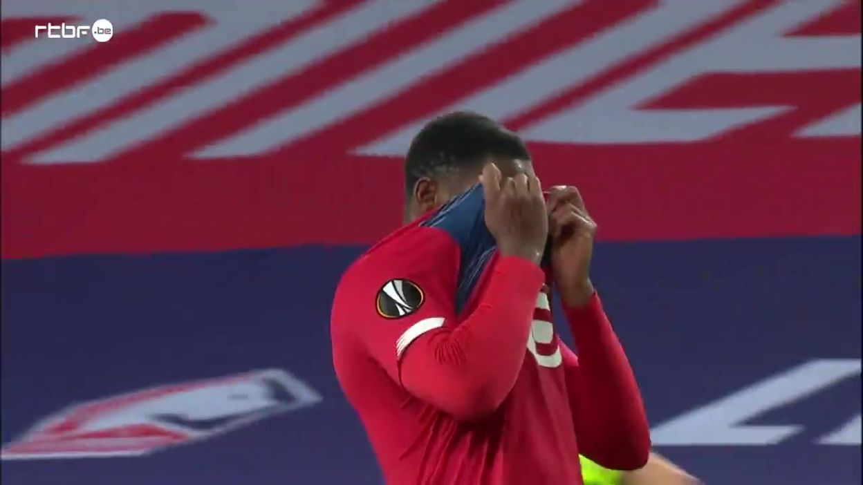 Penalty manqué pour Jonathan David contre le Celtic