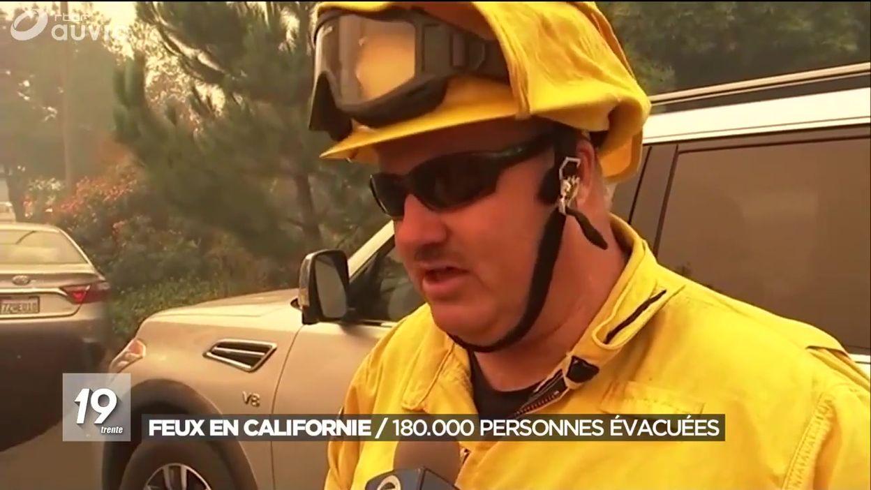 Feux en Californie : 180.000 personnes évacuées