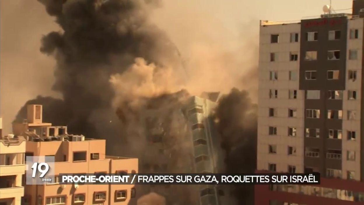 Proche-Orient :  Frappes sur Gaza et roquettes sur Israël