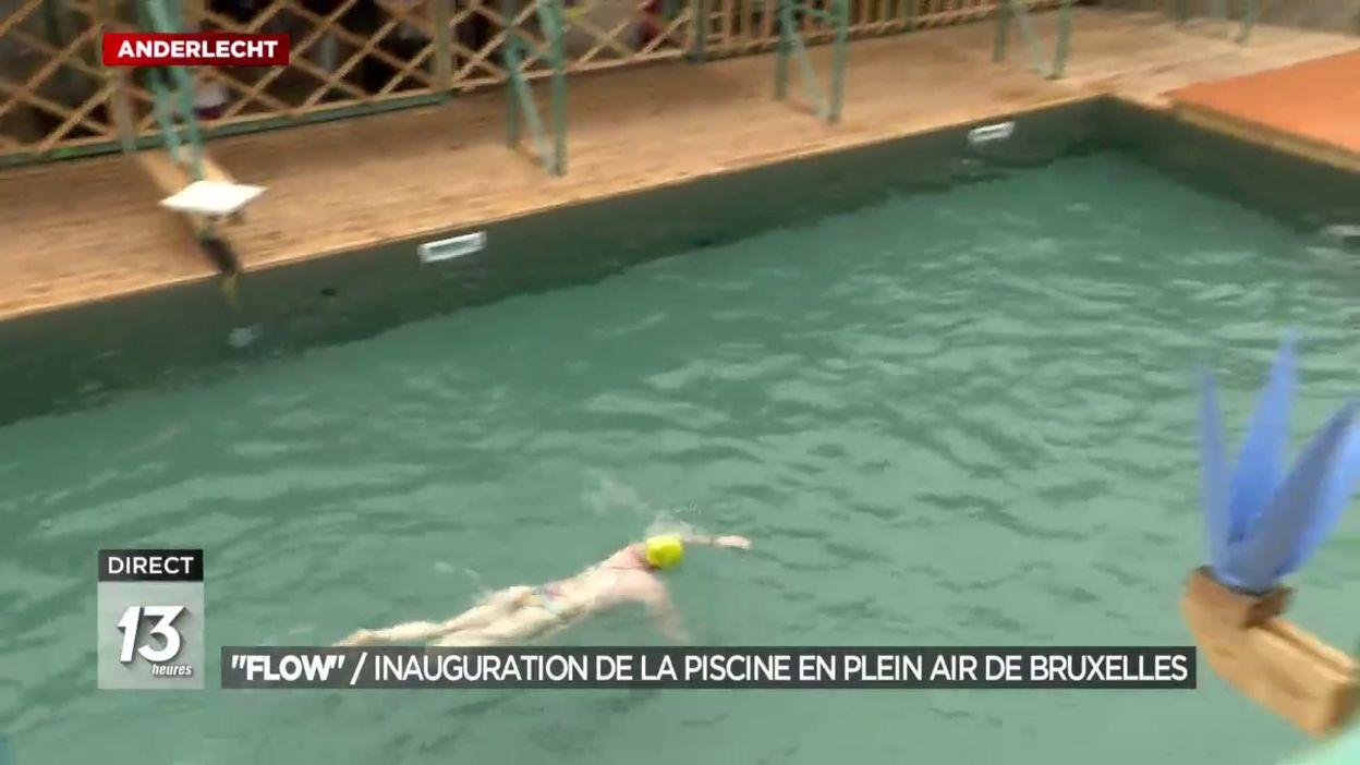 Inauguration de la piscine en plein air de Bruxelles