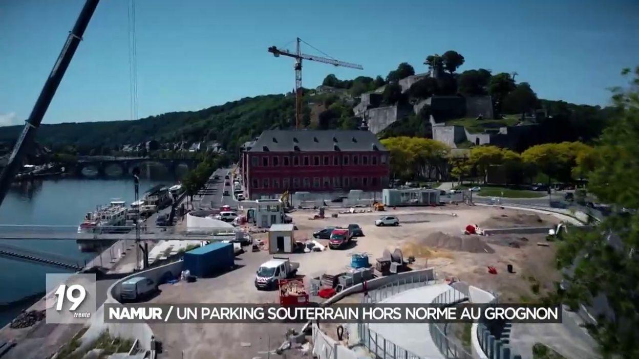 Namur : un parking souterrain hors norme au Grognon