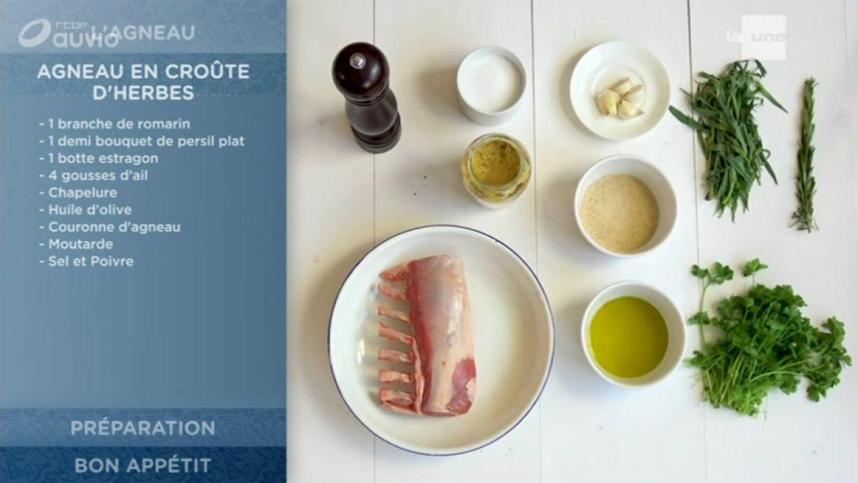 Les recettes de saison de Quel Temps! - Agneau en croûte d'herbes aromatiques! (160/400) -...