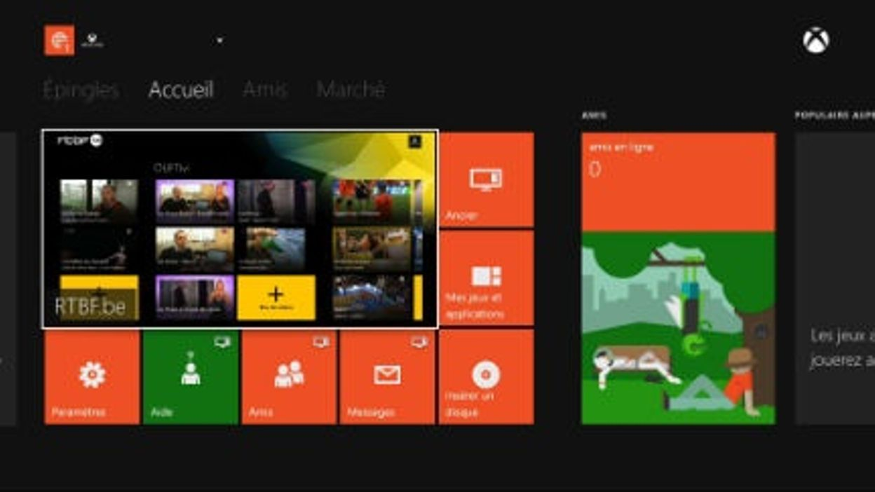 Application RTBF Xbox One