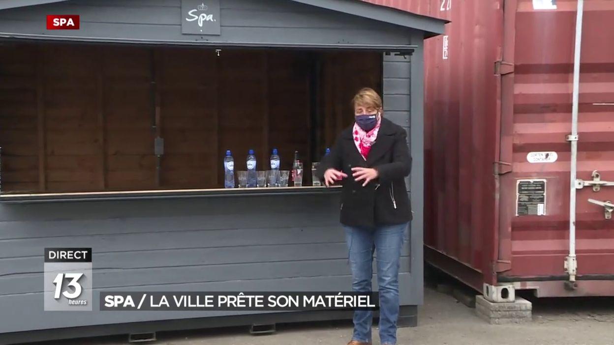 Spa : La ville prête son matériel